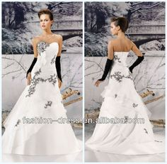 Source Beautiful Sweetheart A-Line Embroidery Organza Over Satin Royal Blue And White Wedding Dresses on m.alibaba.com