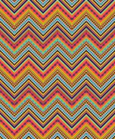 Tribal Chevron Art Print by Amy Sia   Society6