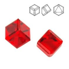 4841 Cube 4mm Light Siam CAVZ  Dimensions: 4mm Colour: Light Siam CAVZ 1 package = 1 piece