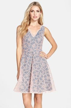 ERIN erin fetherston 'Vanessa' Embroidered Organza Fit & Flare Dress available at #Nordstrom