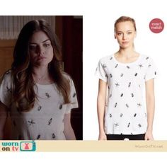 French Connection Sonny Slubbing Top All Over Bugs French Connection Women's Sonny Slub Print Top, All Over Bugs. As seen on Aria played by Lucy Hale in Pretty Little Liars. Comes from a smoke free home with pets. No trades and no PayPal. Worn and loved!! French Connection Tops