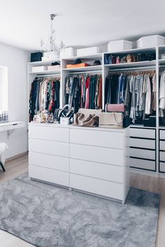 That& how I set up and designed my dressing room - Planning, setting up and designing a dressing room, dressing room ideas, walk-in closet, ikea pax p - Mini Closet, Closet Walk-in, Closet Doors, Closet Ideas, Wardrobe Ideas, Open Wardrobe, Walk In Closet Ikea, Ikea Pax Closet, Ikea Pax Wardrobe