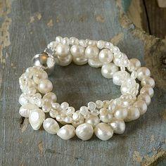 four-strand freshwater pearl bracelet by anusha | notonthehighstreet.com