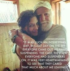 The Walking Dead hershel's last day on set:(