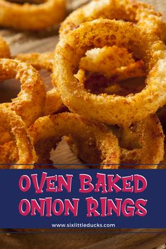 Oven Baked Onion Rings Amazing Baked Onion Rings that are WW-Friendly! Healthy Onion Rings, Homemade Onion Rings, Baked Onion Rings, Easy Onion Rings Recipe, Gluten Free Onion Rings, Onion Recipes, Baking Recipes, Healthy Recipes, Healthy Dishes