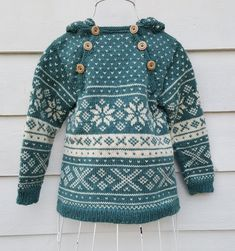 Snøhetta anorak and sweater von SiSiVeAS auf Etsy Knitting For Kids, Knitting Projects, Baby Knitting, Crochet Baby, Knit Crochet, Baby Fair, Fair Isle Pattern, Fair Isle Knitting, Knitting Charts