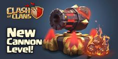 Sweet Clash Of Clans Levels, Clash Of Clans Game, Barbarian King, Boom Beach, Clash Royale, Cannon, Game Art, Play, Building Concept