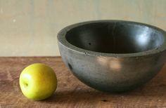 Dark concrete bowl #etsy