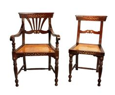 Baliuag Or Style Pampanga Dining Chairs C Early 20th Century