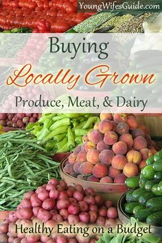 Buying Locally Grown Produce, Meat & Dairy ~ Healthy Eating on a Budget