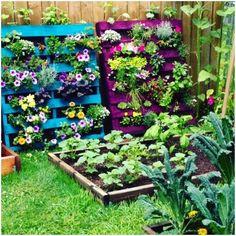 Uso de palets en jardinería