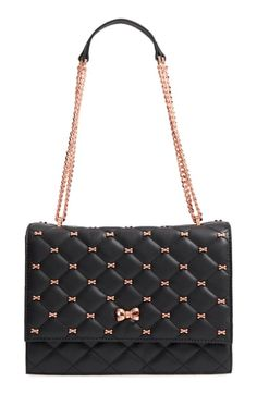 MyChicPicks - Ted Baker London Bow Quilted Leather Shoulder Bag - Find and compare your style across the world's leading online stores! Melody Fashion, Ted Baker Bag, Black Pink Kpop, Beautiful Handbags, Quilted Leather, Small Bags, Cross Body Handbags, Leather Shoulder Bag, Fashion Bags