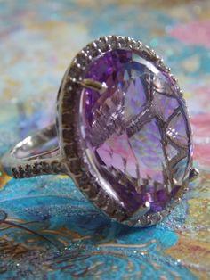 65 carat Amethyst ring
