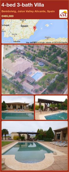 4-bed 3-bath Villa in Benidoleig, Jalon Valley   Alicante, Spain ►€465,000 #PropertyForSaleInSpain
