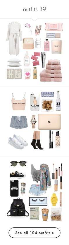 """""""outfits 39"""" by jeni-tomaskova ❤ liked on Polyvore featuring rag & bone, NARS Cosmetics, Falke, adidas, Gucci, La Prairie, WithChic, Topshop, Converse and Ray-Ban"""
