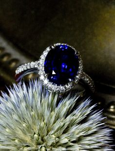 Unique sapphire engagement ring by ken + dana design