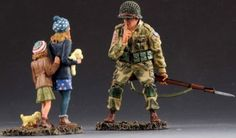 World War II U.S. 82ND Airborne ATW009A 82nd Pathfinders Shush Normandy - Made by Thomas Gunn Military Miniatures and Models. Factory made, hand assembled, painted and boxed in a padded decorative box. Excellent gift for the enthusiast.