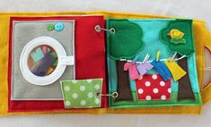 """NEW!  """"Laundry Day"""" 2 Page Quiet Book Activity to Create and Expand your Custom Hand-made Quiet Book! by RoseInBloomCreations on Etsy"""