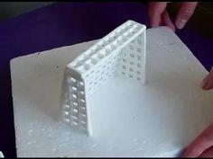 How to make a fondant soccer/football net / Jak zrobić bramkę do piłki z masy cukrowej - YouTube