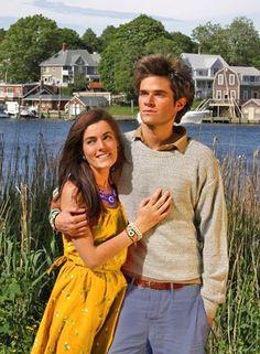 Preppy perfection; Kiel James Patrick and Sarah Vickers