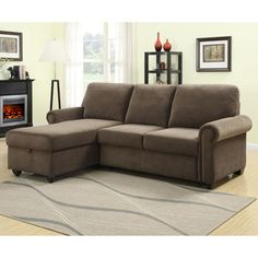 Newton Rolled Arm Sofa Left-Chaise Convertible Bed