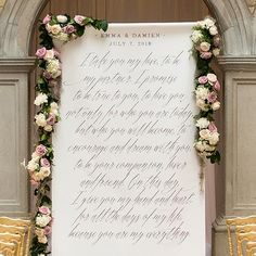 Gracious fonts with old world elegance give this an exquisite look that is luxurious with a hint of modern flair. Display at your ceremony, welcome area, sweet bar, drink station or anywhere else throughout your decor that could use a little love. Text color in mocha mousse, silver, or vintage pink. Please indicate per