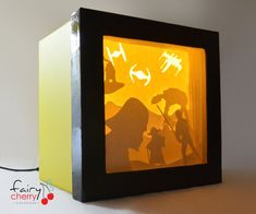 Star Wars shadow box with light by FairyCherry on Etsy