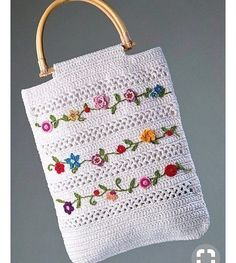 Crochet Crochet and Embroidery bag - free graphic pattern and charts available via the l. Love, and Embroidery bag - free graphic pattern and charts available via the l. Crochet and Embroidery bag - free graphic pattern and charts avail. Crochet Tote, Crochet Handbags, Crochet Purses, Love Crochet, Crochet Crafts, Crochet Projects, Knit Crochet, Crochet Summer, Crochet Granny