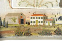 A detail from the elaborately detailed murals, which measure as much as 11 feet wide and 7 feet tall.