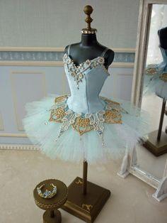 A miniature tutu handmade/ Miniature Ballet Costume/'The Sleeping Beauty' Princess Florine Dance Costumes Ballet, Tutu Ballet, Cute Dance Costumes, Tutu Costumes, Ballet Dancers, Ballet Russe, Sleeping Beauty Princess, Ballet Clothes, Dance Outfits