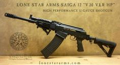 Saiga Automatic 12 Guage shotgun. ..Nuff SaidLoading that magazine is a pain! Get your Magazine speedloader today! http://www.amazon.com/shops/raeind