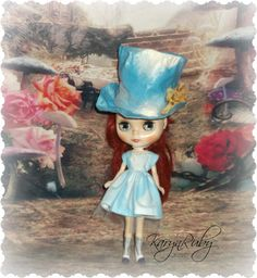 Blythe Blue Cloud Hat & Dress  Vintage Inspired  by by KarynRuby