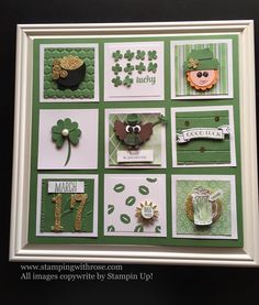 Image may contain: indoor Frame Crafts, Diy Frame, St Patrick's Day Crafts, Holiday Crafts, Scrapbooking Layouts, Scrapbook Cards, St Patricks Day Cards, Candy Cards, Collage Frames