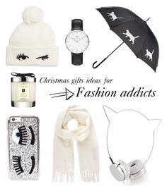 """Gift ideas for fashion addicts"" by sara-kate-lusetti on Polyvore featuring moda, Kate Spade, Skinnydip, Chiara Ferragni, Vivienne Westwood, Daniel Wellington e Jo Malone"