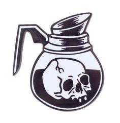 Resultado de imagem para coffee skull tattoo