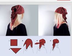 How to tie gypsy style head scarf
