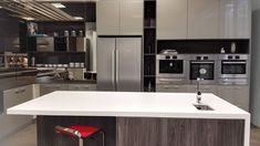 Darker colours can seem intimidating, but they do look oh so classy. Dark Colors, Colours, Kitchen Cabinets, Vanity, Classy, Interior, Furniture, Design, Home Decor
