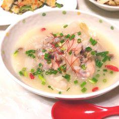 アツアツ参鶏湯♡炊飯器で簡単に!