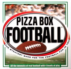 A football experience inside a pizza box? Who knew? Head To Head Football, 100 Games, Football Images, Pizza Boxes, Musa, Sports Games, Game Design, Board Games