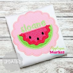 Summer is a great time of year for customized clothing with watermelon scallop Applique design. Bring in the season with Applique Market's great selection of special designs.