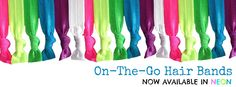NEW PRODUCT ALERT: On-The-Go #Hair Band #Bracelets now available in #NEON! #hairtie #workoutgear #beactive #spring #girlsgonesporty