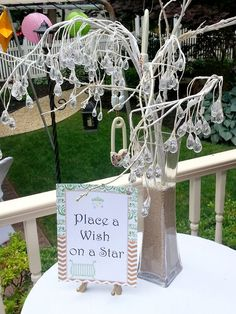 """Pin for Later: An """"I Love You to the Moon and Back"""" Baby Shower  There was also a """"Wish upon a star"""" for advice and well wishes for the baby, which kept the theme ongoing. Photo by Dear Jeni via Pretty My Party"""
