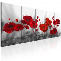 Scarlet Poppies 3d Wallpaper Living Room, Art Mignon, Pink Poppies, Art Drawings Sketches, Diy Painting, Cute Art, Wall Art Prints, My Arts, Clint Eastwood