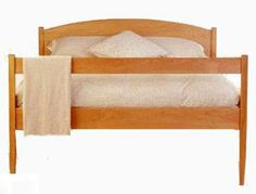 Vermont-Made Shaker Platform Bed | Natural Solid Cherry Hardwood | Handmade in America | Top Quality Green luxury | Solid Wood Bed