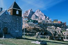 Uummannaq Greenland - Ultima Thule: Arctic churches: simple and colourful