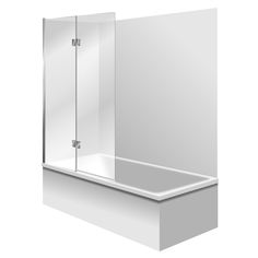 """100% acrylic Fibreglass reinforced 15mm pressed upstand Generous showering / bathing area Contoured for comfortable bathing. One piece wall liner. Set Includes - Bath, Acrylic Liner & Bathscreen. 1000mm water protection 2 Panel Swing Bathscreen Bathscreen. Available in """"Silva"""" or Black Bath surface"""