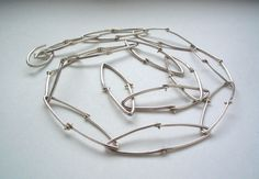 Long Kinetic Chain Necklace by nina dinoff on Etsy