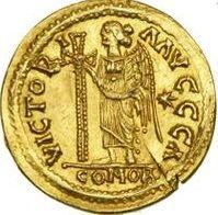 Collezione privata. Solido di Teodorico in nome di Atanasio_Retro.
