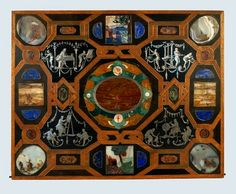 Board with pietra dura inlay from the Pomeranian Art Cabinet by Augsburg Masters, ca. 1611 (PD-art/old), Kunstgewerbemuseum in Berlin, from the collection of Duke Philip II of Pomerania