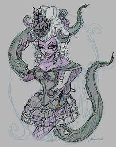 Steampunk Ursula layout Color by NoFlutter.deviantart.com on @deviantART